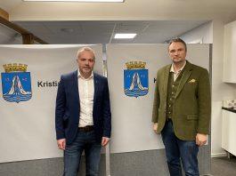 Ordfører Kjell Neergaard og kommuneoverlege Askill Sandvik