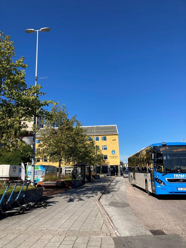 Busstopp ved Rådhusplassen