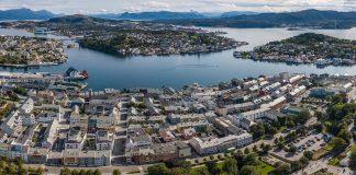 Luftfoto Kristiansund sentrum