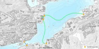 Kart over Dalasundet